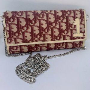 Dior Bordeaux trotter pvc wallet/crossbody